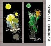 vector illustration of poster... | Shutterstock .eps vector #519738160