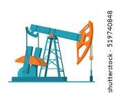 oil pumpjack icon in cartoon... | Shutterstock .eps vector #519740848