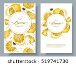 vector lemon vertical banners.... | Shutterstock .eps vector #519741730