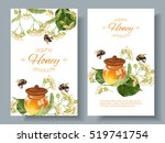 vector linden honey banners... | Shutterstock .eps vector #519741754