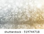 silver and gold christmas...   Shutterstock . vector #519744718