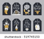 christmas tags set  hand drawn... | Shutterstock .eps vector #519745153