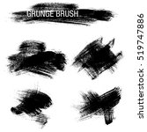 vector set of grunge brush... | Shutterstock .eps vector #519747886