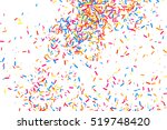 colorful explosion of confetti. ... | Shutterstock .eps vector #519748420