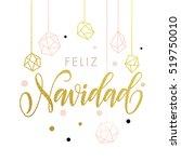 feliz navidad spanish merry... | Shutterstock .eps vector #519750010