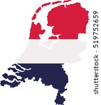 netherlands map with flag | Shutterstock .eps vector #519752659