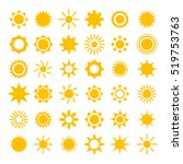 vector sun icons collection | Shutterstock .eps vector #519753763