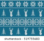 scandinavian christmas winter... | Shutterstock .eps vector #519755683