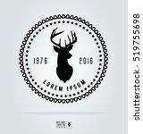 badge labels hipster logo.... | Shutterstock .eps vector #519755698