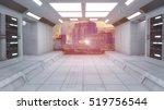 3d Render. Futuristic Hall...
