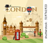 london city skyline  london... | Shutterstock .eps vector #519761923