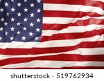 closeup of rippled american flag | Shutterstock . vector #519762934