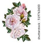flower arrangement  garland.... | Shutterstock . vector #519763600