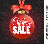 red christmas sale ball with...