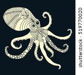 octopus vulgaris isolated...   Shutterstock .eps vector #519770020