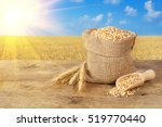 Ears Of Wheat And Wheat Grains...