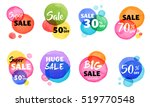 sale icons  tags  labels and... | Shutterstock .eps vector #519770548