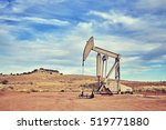 retro toned picture of an oil... | Shutterstock . vector #519771880