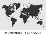 black world map vector. | Shutterstock .eps vector #519772234