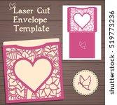 lasercut vector wedding... | Shutterstock .eps vector #519773236