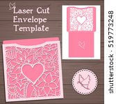 lasercut vector wedding... | Shutterstock .eps vector #519773248