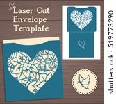 lasercut vector wedding... | Shutterstock .eps vector #519773290