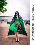 Small photo of Sheffield, UK - June 12, 2016: Cosplayer dressed as the character 'Loki' from Marvel at the Yorkshire Cosplay Convention at Sheffield Arena