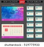 calendar 2017. printable... | Shutterstock .eps vector #519775933