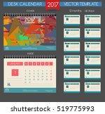 calendar 2017. printable... | Shutterstock .eps vector #519775993