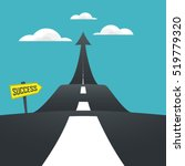 concept of the road to success. ... | Shutterstock .eps vector #519779320