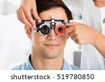 close up of an optometrist... | Shutterstock . vector #519780850