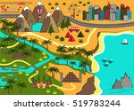 cartoon map with sea  mountains ... | Shutterstock .eps vector #519783244