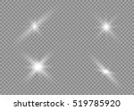 glow light effect. star burst... | Shutterstock .eps vector #519785920