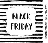black friday sale poster on a... | Shutterstock .eps vector #519787594