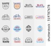 bike rentals logos  labels and... | Shutterstock . vector #519787678