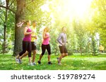 group of people running in the... | Shutterstock . vector #519789274