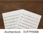 Top View Christmas Music Note...