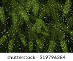 background of christmas tree... | Shutterstock .eps vector #519796384