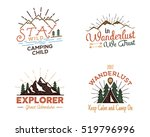 set of outdoors activity badges.... | Shutterstock .eps vector #519796996