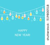 line style new year vector... | Shutterstock .eps vector #519800518