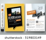 brochure design template vector.... | Shutterstock .eps vector #519803149