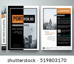 minimal cover book presentation.... | Shutterstock .eps vector #519803170