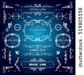 set of vintage decorations... | Shutterstock .eps vector #519805558