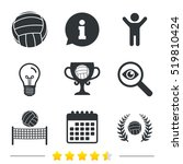 volleyball and net icons.... | Shutterstock .eps vector #519810424