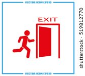 exit icon vector illustration... | Shutterstock .eps vector #519812770