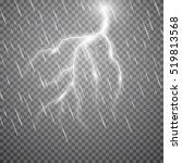 realistic vector lightning ...   Shutterstock .eps vector #519813568