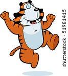 tiger jumping | Shutterstock . vector #51981415