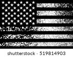 unusual usa flag. snow isolated ... | Shutterstock . vector #519814903