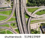 aerial view at junctions of... | Shutterstock . vector #519815989