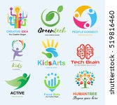 logo set  creative idea  kids... | Shutterstock .eps vector #519816460